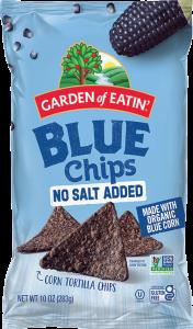 Blue Tortilla Chips with No Salt Added