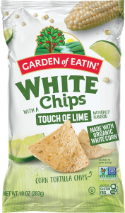 White Tortilla Chips with a Touch of Lime