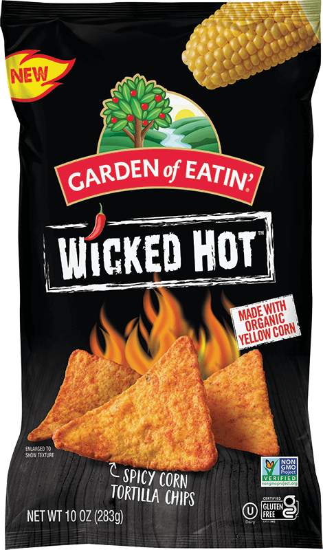 Wicked Hot Corn Tortilla Chips from Garden of Eatin'